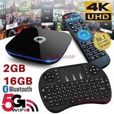 2018 Q-Box Android 6.0 TV Box 17 Media Player 2GB+16GB 5Ghz WIFI Mini Keyboard