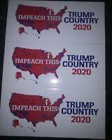 *3 PACK* Impeach This Donald Trump Country 2020 Bumper Stickers Anti-Democrat