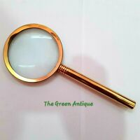 Brass Magnifying Glass Vintage Magnifier Maritime Collectible