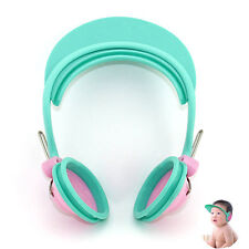 Adjustable Waterproof Shower Cap Baby Shampooing Shield Hat with Ear Muff