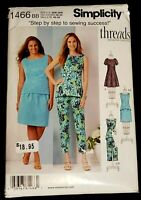 Simplicity Pattern 1466 Misses' Dress, Tunic Top Skirt Pants Size 20W-28W - New