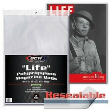 100 Life Magazine Resealable Storage Bags BCW Supplies