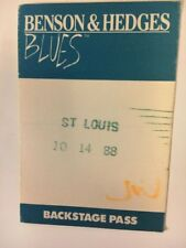 Vintage 88 Benson & Hedges Blues Festival Backstage Pass BB King John Lee Hooker