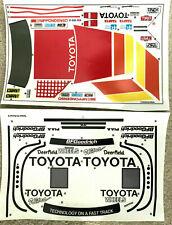 échelle 1//10th Tamiya 2 feuilles Pre Runner Autocollant Set Tamkyo Repro Autocollant