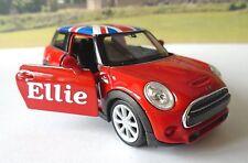 PERSONALISED NAME Gift Red BMW Mini Girls Mum Toy Model Car Birthday Present