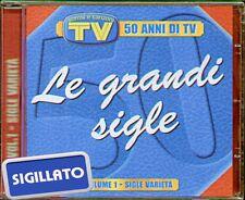 """COMPILATION """" LE GRANDI SIGLE-50 ANNI DI TV VOL.1"""" CD SIGILLATO EDIZ. EDITORIALE"""