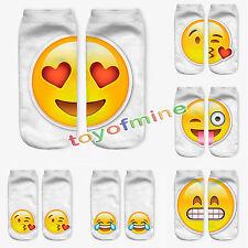 Emoji Calzini Donne Uomo Calze Morbido Cotone 3D Stampato Corti Ankle Socks Moda