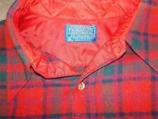 New listing Vintage Pendleton Red/Grn/Blk Tartan Plaid Wool Button Flap Pocket Shirt Sz Lg
