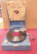 rare ancien authentique phonographe marque THORENS +5 disques fonctionne