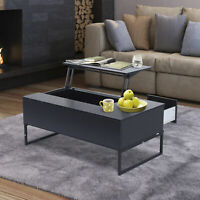"HOMCOM 43.3"" Tea Table Coffee Desk Adjustable Lift Top Furniture Wood w/ Drawer"