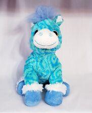 Wild Republic Tie Dye Pony Plush Clean Green Blue Sparkle Hooves Stuffed Animal