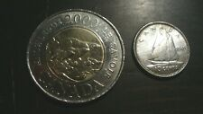 CANADA YEAR 2000 3 BEARS, KNOWLEDGE $2 COIN AND 1949 KING GEORGE VI SILVER DIME