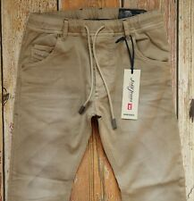 "NEW Diesel KROOLEY-NE Sweat Jeans in Beige W28"" x L30"" Cotton Blend"