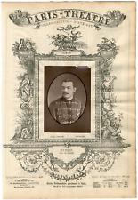 Lemercier, Paris-Théâtre, Marais, acteur Vintage Albumen Print Tirage albuminé
