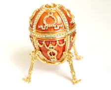 Faberge Egg Imperial Rosebud Surprise Neckace Jewelry Box Crystals Authentic