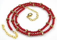 Ct 44.65 Natural Coral dyed Beads Women Necklaces Gemstone Gifts Birthday Gift S