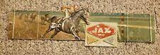 RARE Jax Beer Plastic Advertising Sign Horse Racing Louisiana Downs as is