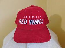 Pre-Owned Starter Detroit Red Wings Corduroy Snapback Hat