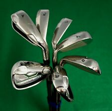 Set Of 7 x TaylorMade Japan Issue RocketBallz Irons 4-PW Stiff Steel Shafts