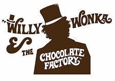 Willy Wonka and the Chocolate Factory Typography Decorative Vinyl Wall Sticker