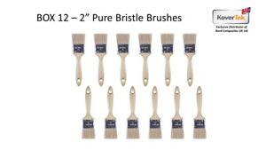 "Gelcoat 2"" 50mm Pure Bristle Low Loss Plastic Handle Fibreglass GRP Brush - 12pk"