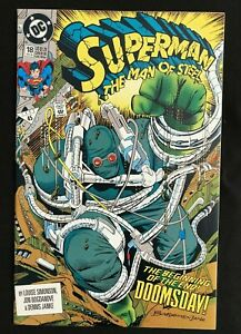 """Superman the Man of Steel #18 (1992) """"DOOMSDAY!"""" 1ST FULL APP OF DOOMSDAY!"""