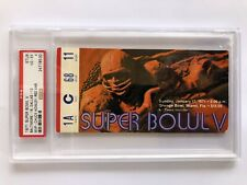 Super Bowl Ticket Stub V - 1971- RED VARIATION