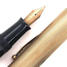 9ct Gold Engine Turned Watermans Pen