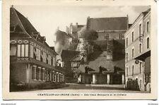CPA - Carte postale- France - Chatillon-sur-Indre - Les Vieux Remparts