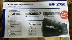 MINUTEMAN EN550 ENSPIRE 550VA STAND-BY UPS WITH 8 OUTLETS B4