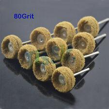"10pcs Polishers Buffers Abrasive 1"" Scotch Brite Wheels 80Grit 3mm Shank"