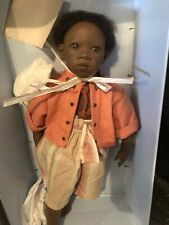 """Annette Himstedt Pemba 21"""" Artist Doll With original Clothing and Box"""