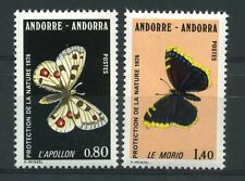 "ANDORRE N° 258/59  "" PAPILLONS  "" NEUFS XX TTB."