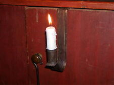 Primitive Early 18th - 19th C Style Handmade Hanging Tin Cupboard Candle Holder