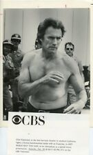 CLINT EASTWOOD BARECHEST FIGHTING ANY WHICH WAY YOU CAN ORIG 1985 CBS TV PHOTO