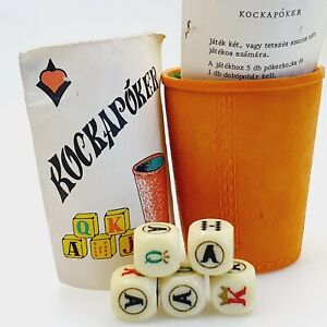 """Vintage Dice Poker ,, board game"""" toy game gambling 1970's Hungary with manual"""