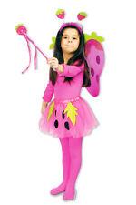 Kostüm Set Süße Erdbeere 4-tlg. für Kinder Obst Tütü Petticoat Flügel Feen Stab