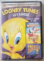 Looney Tunes Let Loose Triple Feature DVD (2018) 3-Disc Set BRAND NEW Sealed!
