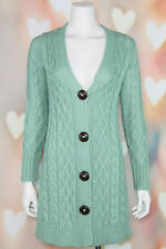 f07e8249d0 NWOT Chic THE LIMITED Alpaca MINT GREEN Wool CABLE KNIT Tunic CARDIGAN  SWEATER S