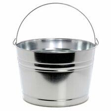 "Hubert® Round Galvanized Metal Beverage Display Tub - 13 1/2""Dia x 9""H"