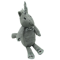 Rosewood Soft Plush Silver Unicorn Dog / Puppy Toy with Hidden Squeaker