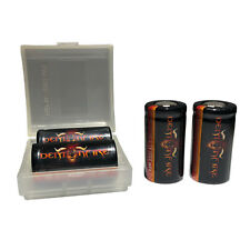 4 Pack Demonfire IMR 18350 Flat Top LiMn Batteries High Drain 3.7V 1200mAh