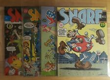 SNARF Comics Nos. 2,3,4,6. 1st Printings. Excellent Shape!