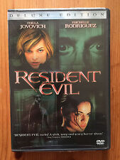 Resident Evil Deluxe Edition DVD LIKE NEW Milla Jovovich Michelle Rodriguez