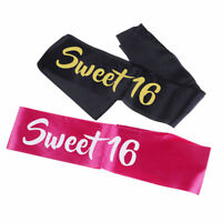 Sweet 16 Birthday Sash Satin Sash Girls Boy 16th Birthday Party Fancy Dress u 3C
