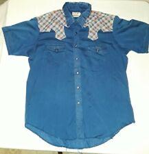 Vintage Maverick Western Pearl Snap Button Up Shirt Tailoring Long Tail