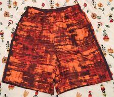 Mens Nike Athletic Shorts Medium Drawstring Polyester M Geometric Pattern