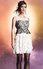 Harry Potter Black Lace & Ivory Ruffle Formal Prom Dress Size XL Rare NWT