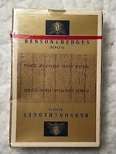 Vintage Benson & Hedges Cigarette Playing Cards New in Box NOS Tobacciana Poker