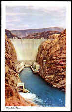 BOULDER DAM Arizona BOB PETLEY K12 1940s Early KODACHROME Vintage Photo Postcard